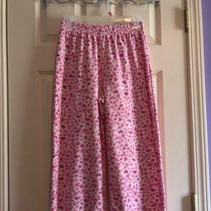 Cheetah print pajama pants